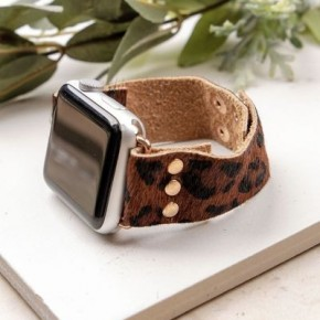 Brown Leopard Smart Watch Band