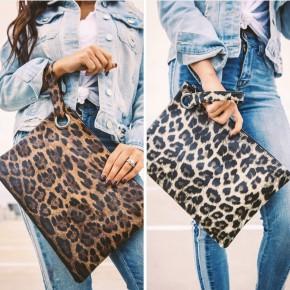 Cheetah Clutch with Wrist Strap