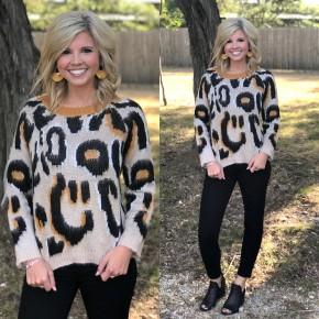 Mustard Cheetah Sweater