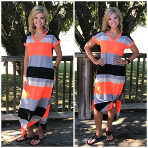 Neon Moon Striped Maxi Dress