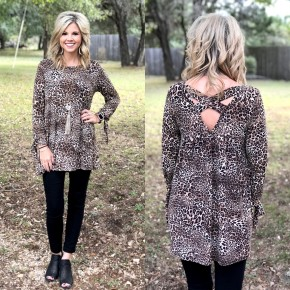 Cross Back Tunic Top