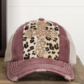 Glitter Cross Cap
