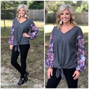 Grayson Floral Sleeve Top