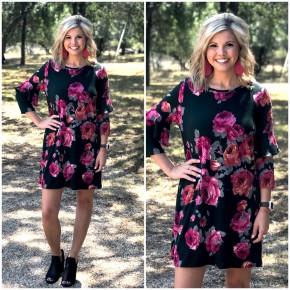 Fall Flowers Dress