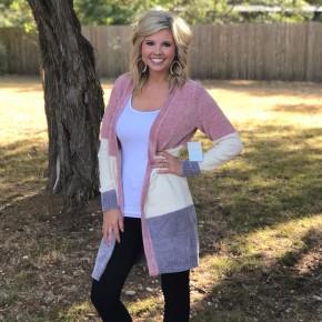 Chenille Colorblock Sweater