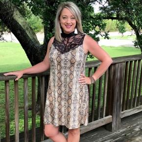 Eve Snakeskin Dress