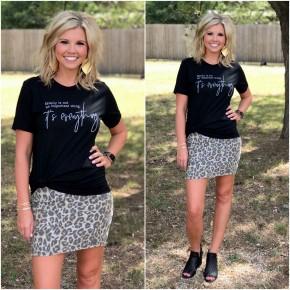 Little Bit of Leopard Skirt *Final Sale*