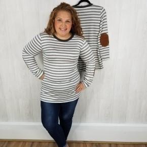 Charcoal/White Stripe