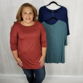 SALE Back Button Tunic