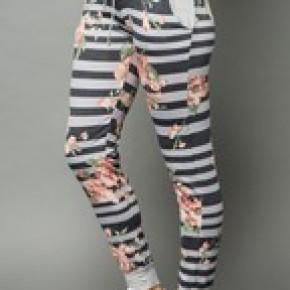 Floral/Stripe jogger