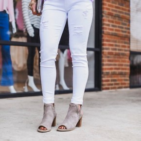 Now You Know White Jeans