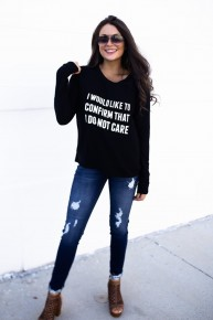 Do Not Care Sweatshirt