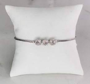 Victoria Lynn CZ 3 Crystal stone Bracelet
