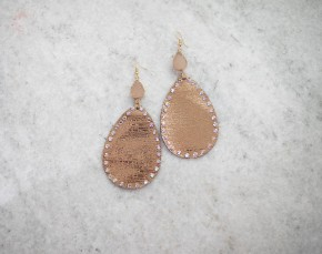 Mixing It Up Fabric Pendant & Druzy Earrings