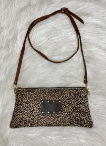 Cheetah Parson Cowhide Purse