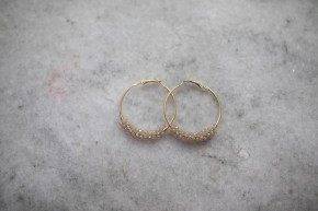 Always Keep A Promise Gold Hoop Earrings
