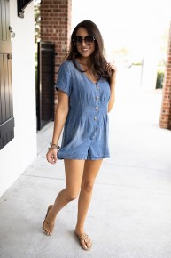 Dusted With Denim Romper