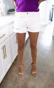 Boat Day Shorts-White