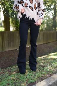 Black Flare Jeans
