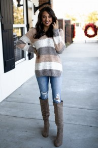 Stepping Towards Spring Sweater