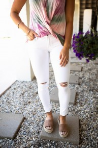 A Moments Notice White Jeans