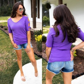 Comfort Zone Top-Lilac- Deal Of The Day