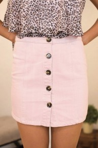 Boldly Buttons Skirt