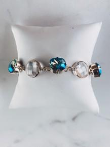 Victoria Lynn 12mm Circle Glass Bracelet
