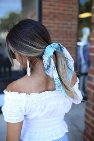 Tied & True Scarf Scrunchie