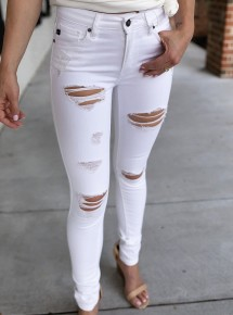 Just For This White Jeans