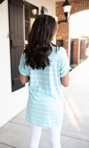 Love Me Instead Top - Blue Mint- Deal Of The Day
