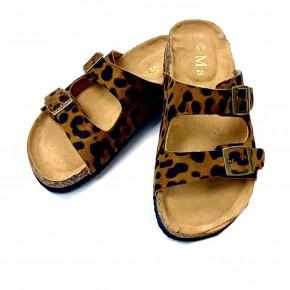 Leopard Birkenstock Style Sandals