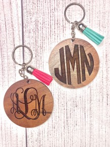 Custom Engraved Wooden Keychains