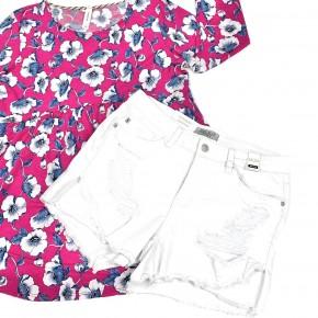 Judy Blue White Tulip Shorts