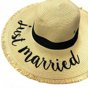 CC Just Married Floppy Hat