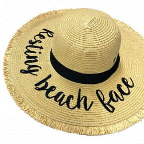 CC Resting Beach Face Floppy Hat