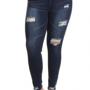 PLUS Size High Waist Denim Jeggings