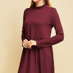 Long Sleeve Baby Doll Dress