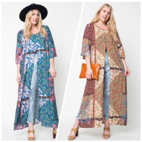 **PLUS SIZE** Printed Long Tunic