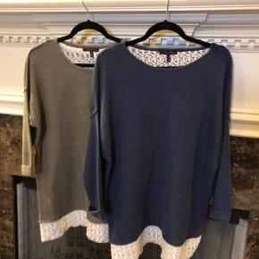 Beautiful Embroidered Hem Sweater