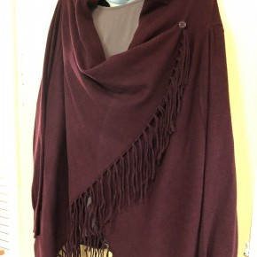 Fringed Wrap Cardigan Poncho
