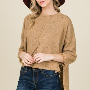Mustard Distressed Comfy Sweater
