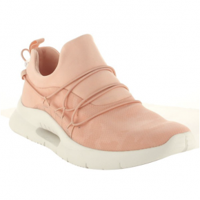 Mauve mesh chunky sneakers with cinch top tighten