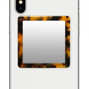 Tortoise shell square selfie mirror