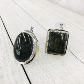 MEDIUM LABRADORITE SIZED RINGS IN STERLING SILVER