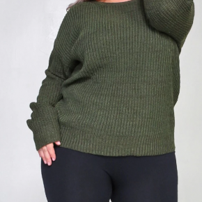 Plus lattice back sweater