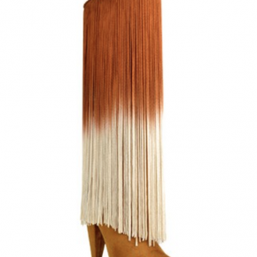 Chestnut hombre fringe cone heeled boots with side zipper