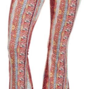 Maroon boho chic bell bottom gypsy pants