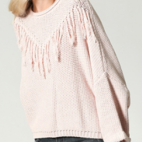 Ballet oversized round neck pullover sweater