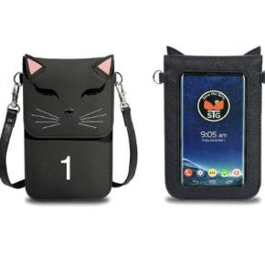 Fun cat save the girls wallet/phone purse